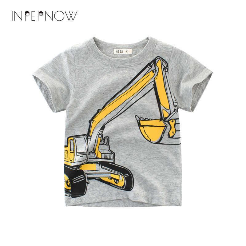 a3c1ae57 INPEPNOW T Shirt Shirt Boys Tshirt Summer Tops Car Print T-shirts for Boys  Little