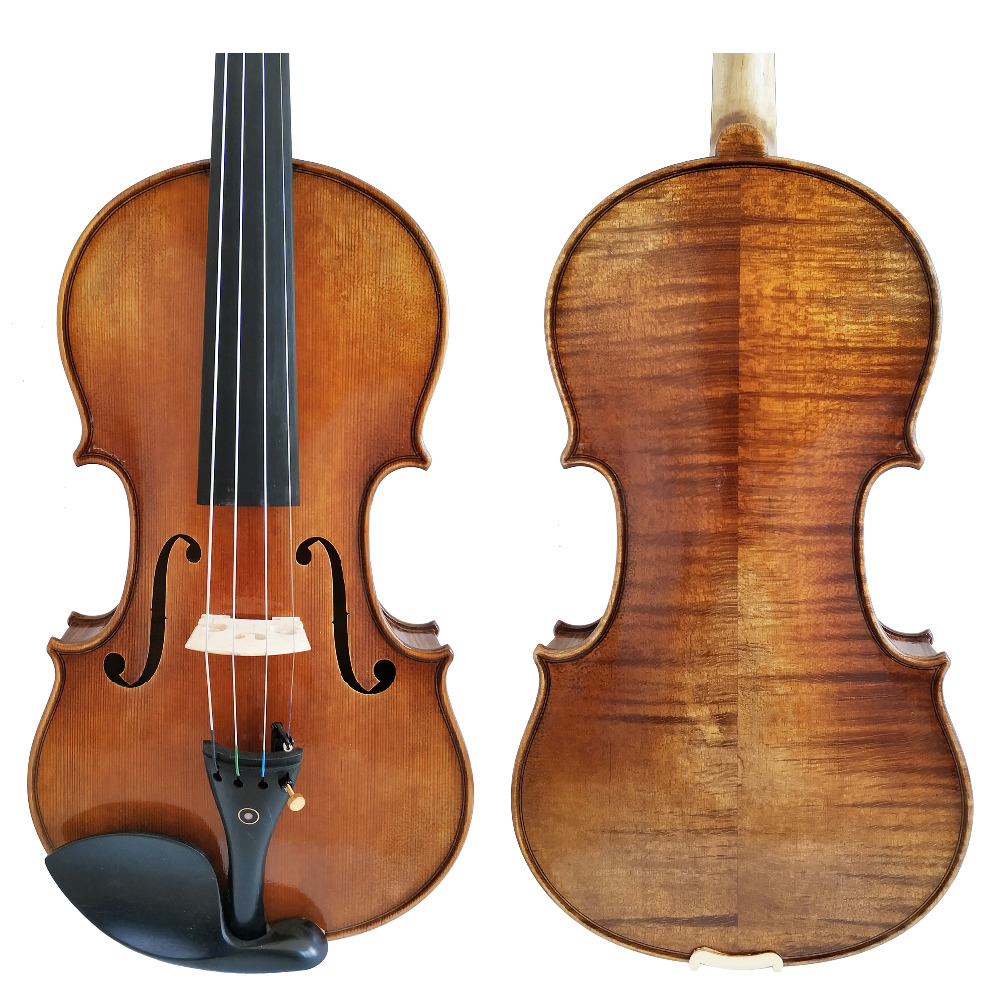 Copy Antonio Stradivari Cremonese 1716 Model Violin FPVN01 With Canvas Case And Brazil Bow Rosin