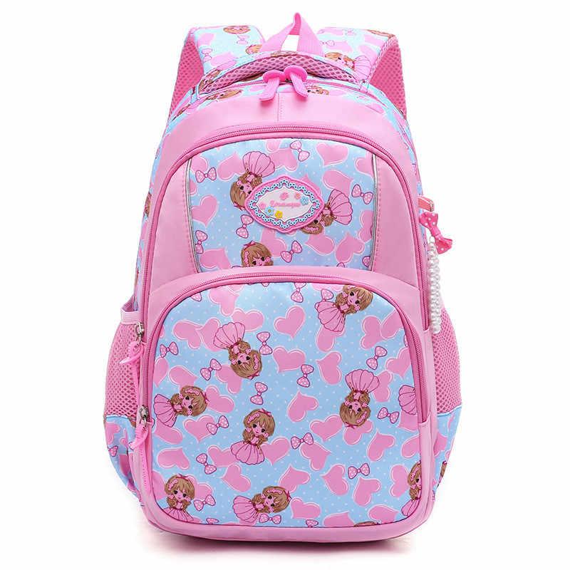 269c89773c21 Новые милые детские школьные рюкзаки для девочки принцесса нейлоновый школьный  рюкзак непромокаемая Детская сумка Школьный рюкзак