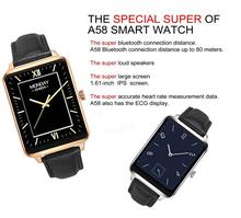 "Oukitel a58 1.61 ""บลูทูธ4.0 smart watchเหล็กร่างกายอัตราการเต้นหัวใจเข้ากันได้สำหรับios android"