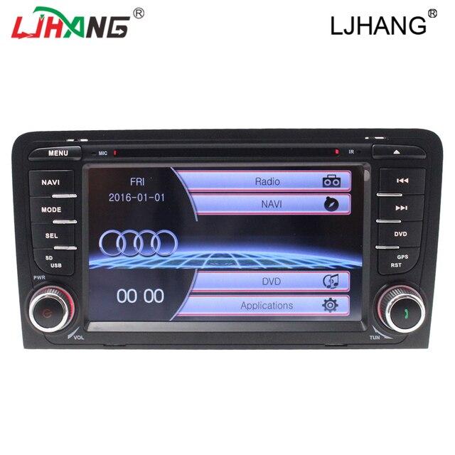 Pantalla capacitiva 2 Din 7 Pulgadas de Coches Reproductor de DVD Para Audi/A3 2002-2011 Radio de Canbus GPS Bluetooth navegación de Control Del Volante