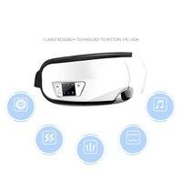 Bluetooth Wireless Ojos Masajeador Eléctrico de la Vibración Del Masaje Del Ojo Terapia de Presión de Aire de Calefacción Por Infrarrojos Música Juego de Ojos Gafas de SPA