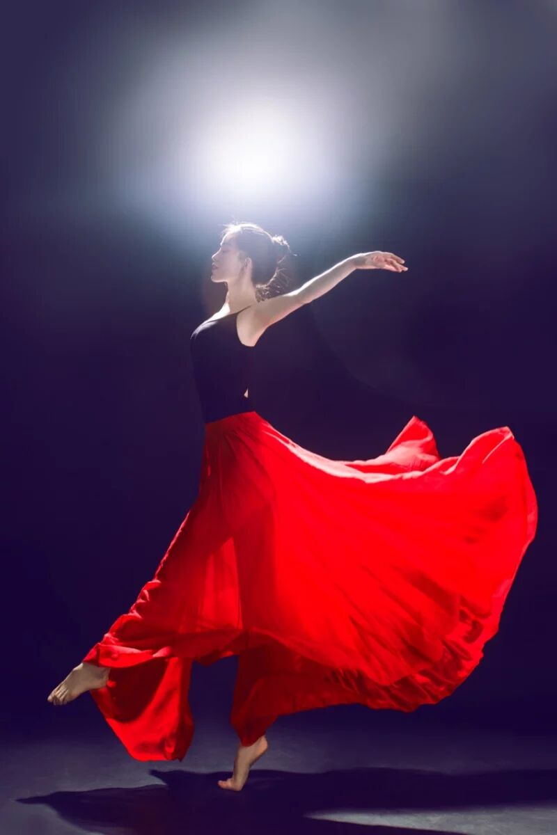 Lady Belly Dancing Skirt 360 540 720 Dance Practice Skirt Swagger Skirts Skirt Chiffon Modern Dance Suit D0729