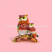 European painting crafts, metal crafts owl, table decorations Home Furnishing, chicken gifts (A384)
