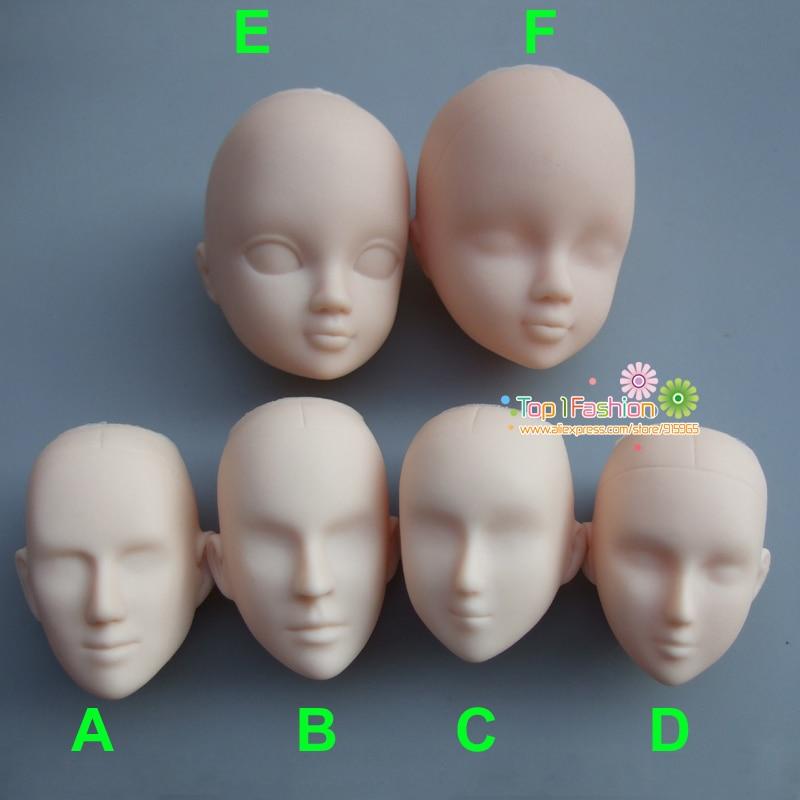 Plastique pratique maquillage homme femmes poupée tête bricolage têtes pour maquillage pratique (lot de 5)