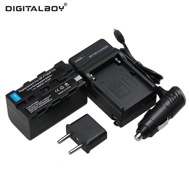 Digtail мальчик 4800 мАч 7.4 В 1 шт. Батарея + Зарядное устройство NP-F750 NP F750 npf750 Перезаряжаемые Батареи для камеры для Sony