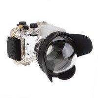 Mcoplus Камера 67 мм 0.7x fisheye широкоугольный объектив купол Порты и разъёмы (67 мм круглый) для Подводный водонепроницаемая Дайвинг Корпус сумка
