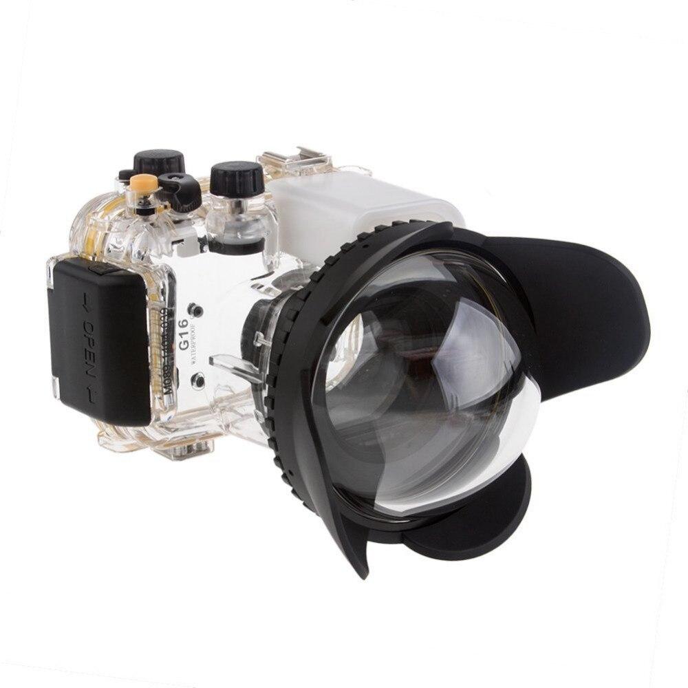Mcoplus Caméra 67mm 0.7x fisheye grand angle lentille Dôme Port (67mm Ronde) pour Sous-Marine étanche Plongée Logement Cas Sac