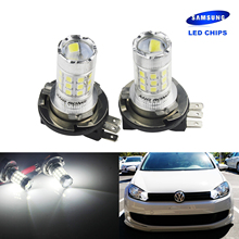 ANGRONG 2x 30W H15 Bulb SAMSUNG LED High Beam Headlight Daytime Light DRL White For Mercedes недорого