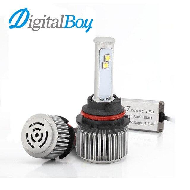 Digitalboy 1 Set 120W 9004 9007 LED Headlight Bulb Car Fog Light DRL Headlights High Low Hi Lo 60W Each Headlamp Bulbs