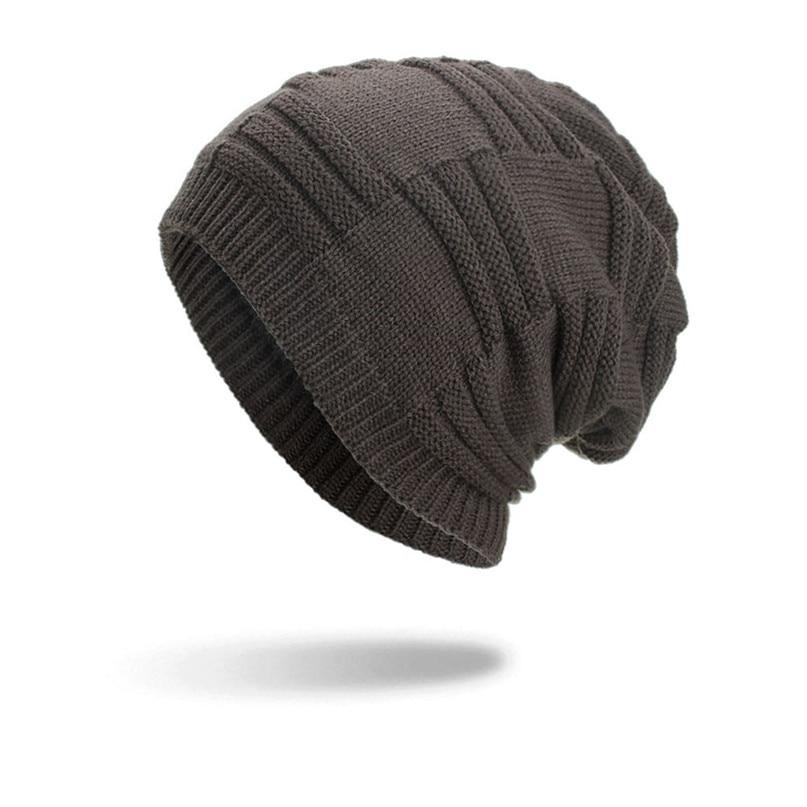 b62d8951428 Cycling Cap Winter Warm Hats Women Men Warm Baggy Weave Crochet Winter Wool  Knit Ski Beanie Skull Caps Hat Wholesale  2s2-in Cycling Caps from Sports  ...
