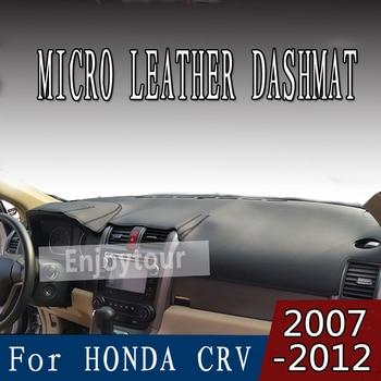 For HONDA CRV C-RV 2007-2012 micro leather dashmat dashboard cover prevent sunlight pads dash mat 2008 2009 2010 2011  LHD+RHD