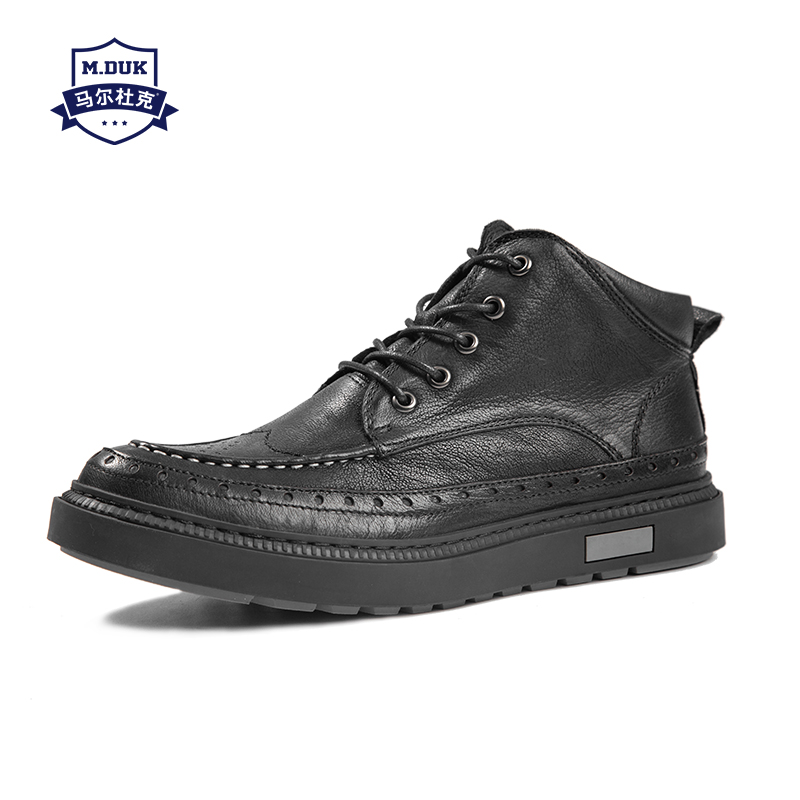 new men Martin boots Genuine leather British boots youth laces short boots male autumn winter men's all-match cowhide boots new winter boots martin male tide high velvet warm shoes men british short boots all match cowhide cashmere men s casual shoes