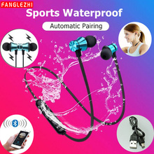 Wireless Sport Earphone Bluetooth Magnetic Earphones Stereo Waterproof Earbuds Wireless in-ear Headset with Mic for Android IOS dodocool magnetic bluetooth earphone v4 1 headset wireless earbuds stereo sport earphones with hd mic cvc 6 0 noise cancellation