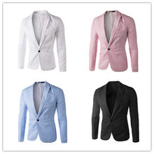 Men Suit Blazer Jacket Charm Men's Casual Slim Fit One Button Suit Blazer Wedding Dress Terno Masculino Coat Jacket Tops Men(China)
