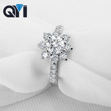 Женское кольцо в форме цветка qyi обручальное из серебра 925
