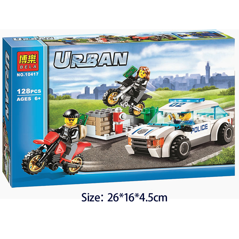 2017 Bela 10417 Urban Police Motorcycle Pursuit  for prisoners Models Building Blocks DIY Toys Action figures Compatible 60042 цена 2017