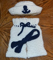 free shipping, Baby Crochet Hat ,tie and Pants Set,100% cotton newborn Beanies Newborn Hat, Photo Prop, 100% cotton Baby caps