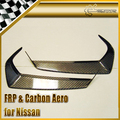 Car-styling Carbon Fiber Eyebrow Eyebrows Eyelids Fit For Nissan 2009-2011 R35 GTR In Stock