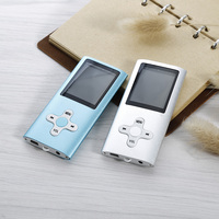 Portatile Mini MP3 Mp4 Music video 1.8 pollice Schermo LCD Con Registrazione FM Radio video media Player con auricolare