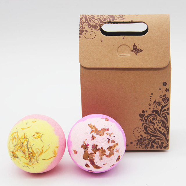 Tsing 120g Bath Bomb rose camomile bubble Bath Bomb spa Handmade natural Essential Oil GiftSet bath Bombs Ball Natural bath bomb