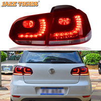 2pcs Of Car Tail Light Assembly For VW GOLF 6 2008 2013 MK6 LED Brake Light With Flowing Water Flicker Turning Signal Light