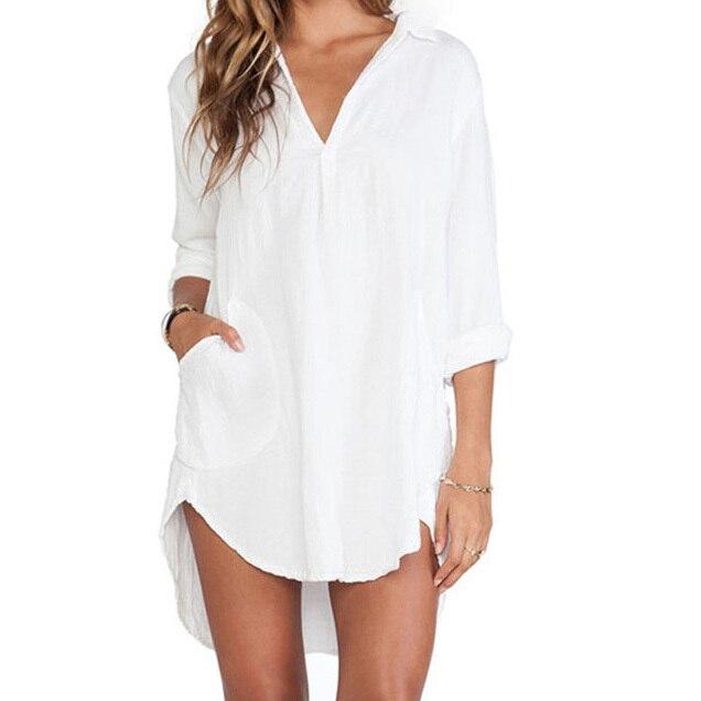 Popular Womens White Long Sleeve Dress Shirt-Buy Cheap Womens ...