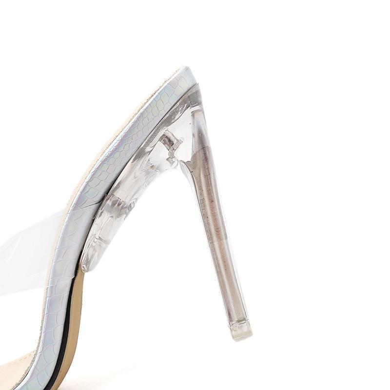Pvc Verano Mujer Transparente Sandalias Flops Moda Cm Tacones 11 Zapatos Alto Cristal De Zapatillas Tacón Diseñador Ocio Flip wgFxYZvB