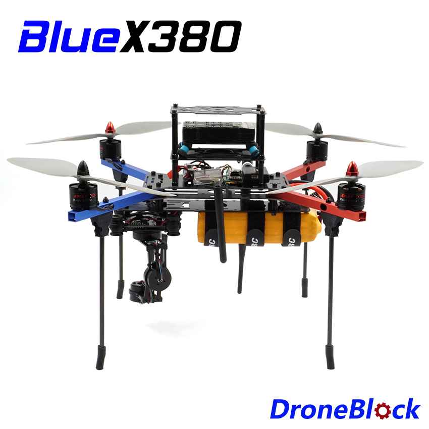 BlueX380 Quadcopter DIY Drone KIT Aluminum Frame F450 Multicopter  Multi-Rotor Racing Drone QuadX For RC FPV APM Pixhawk