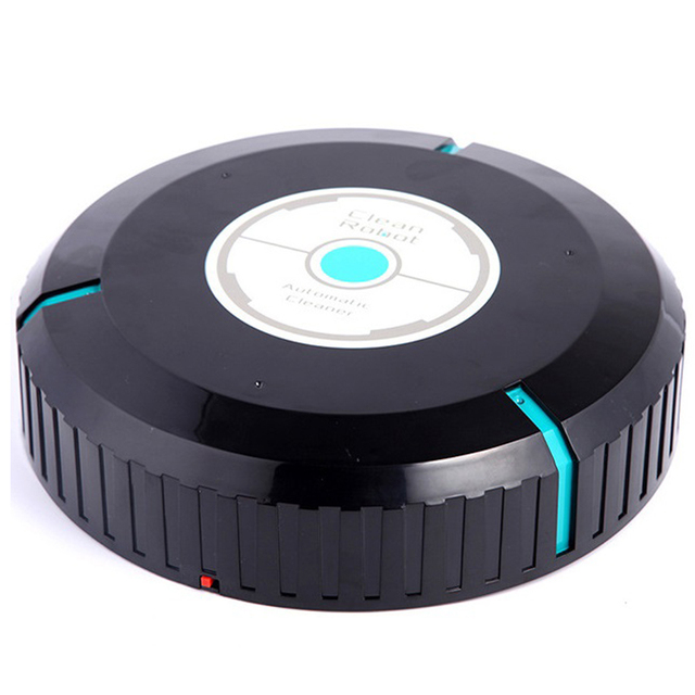 Clean Robot Vacuum Cleaner Home Sweeping Robots For Vacuuming Dust Black Round Automatic Sweeper Design