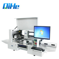 Qihe High Accuracy LED Production Line Pick Place Machine PCB Assembly Machine,12 Feeders+5 Cameras+Straight Guide Rail