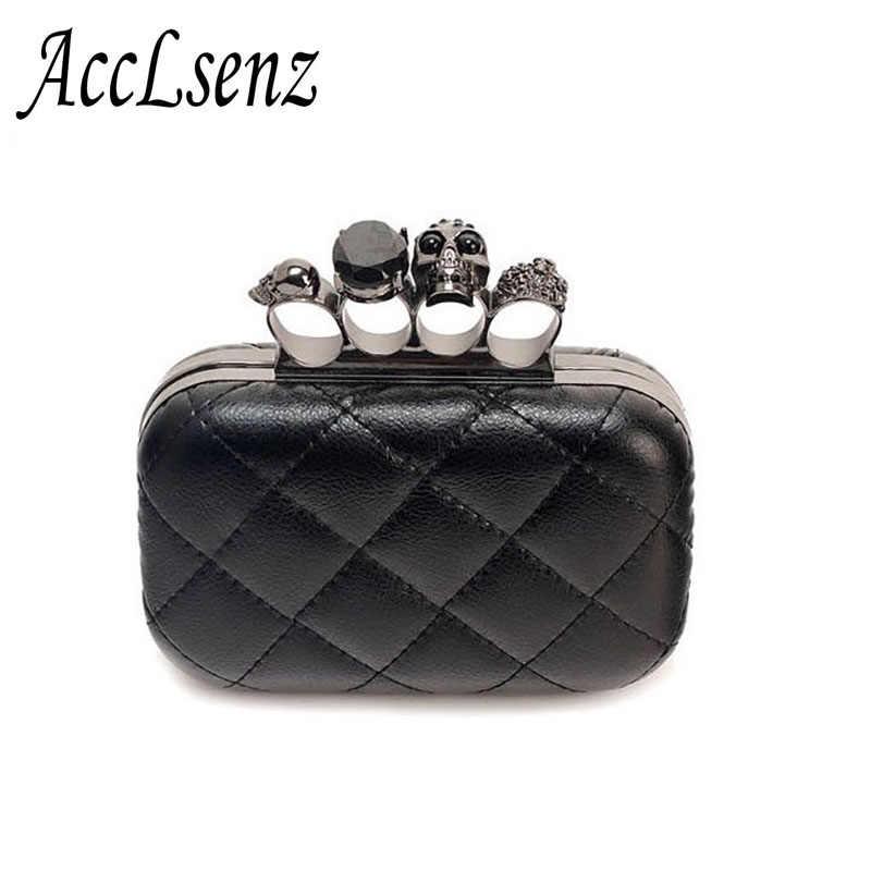 Лидер продаж Женская сумочка-клатч модные дизайнерские сумки через плечо с цепочкой Для женщин в стиле ретро с черепом кольцо ужин вечерние сумки