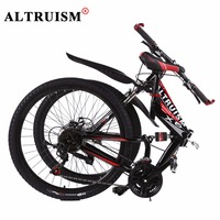 Altruism X6 Folding Steel Mountain Bicycle Bmx 26 Inch 24 Speed Full Shock Male And Female
