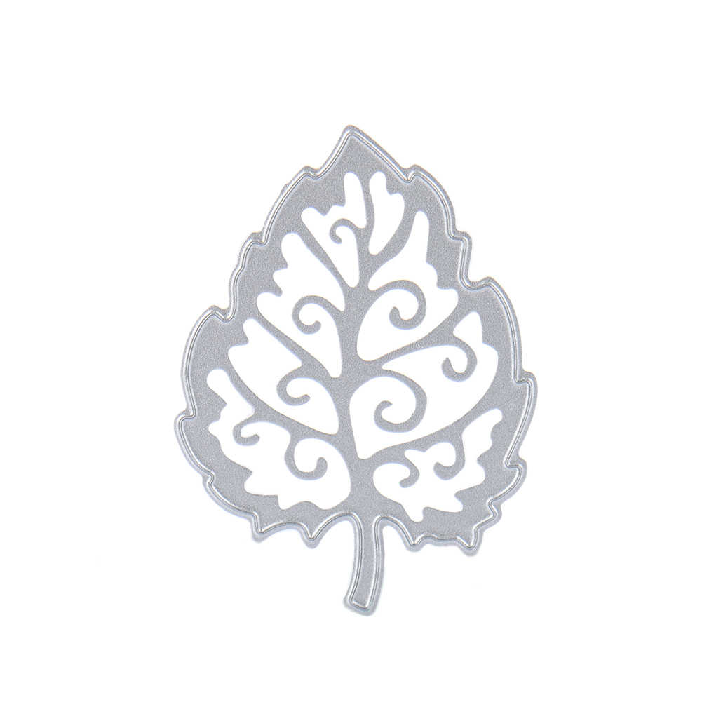 Metal Maple Leaf Pattern Cutting Dies Stencil DIY Embossed Scrapbooking Cutting Dies Cutting Mold For Album Paper Cards Craft