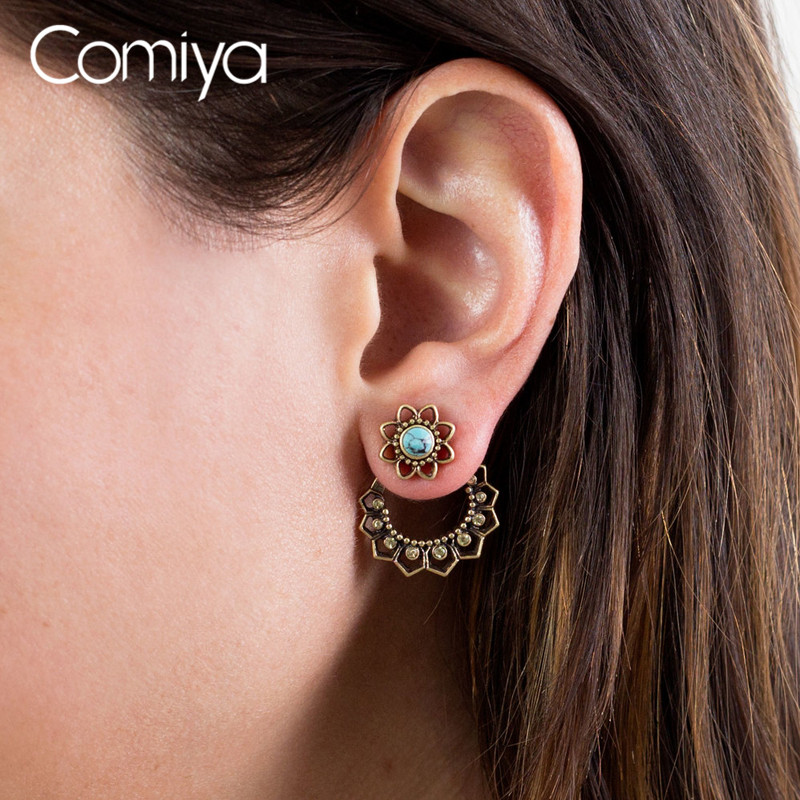 Comiya Statement Accessories Zinc Alloy Gold Color Pendientes Mujer Moda Indian Jewelry Boucle doreille Aliexpress Earring
