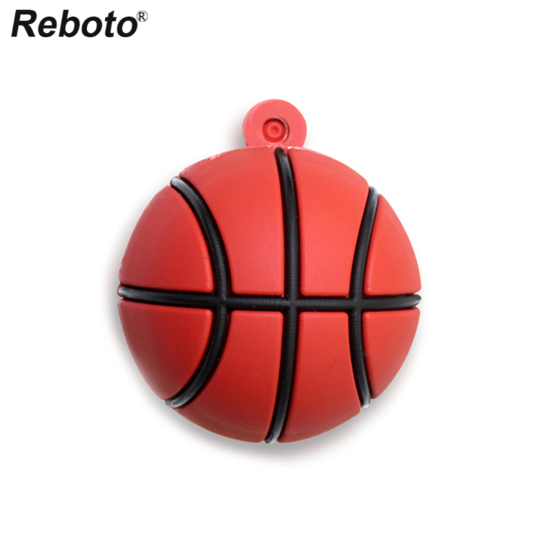 Retobo Basketball USB Flash Drive U Disk USB 2.0 Ball Pen Drive USB Mini 64GB 32GB Memory Stick 4GB 8GB 16GB