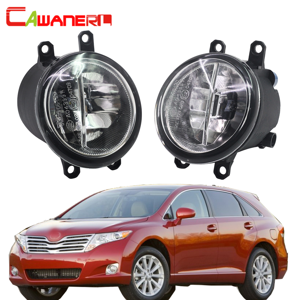 Cawanerl For Toyota Venza 2009-2012 Car Styling H11 LED Fog Light 4000LM White 6000K Day ...