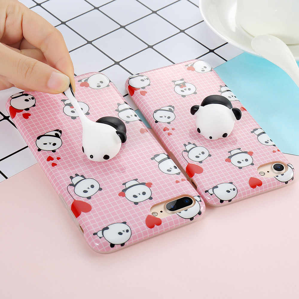 3ade51d6dd ... KISSCASE Cute 3D Squishy Phone Cases For iPhone 7 7 Plus Funny Cat Panda  Seal 3D ...