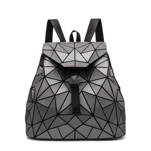 Image 5 - 2019 Fashion Matte Women Backpack Female Black Backpacks Daily Backpack For Girls Geometry Luminous Bagpack Noctilucent Bags Sac
