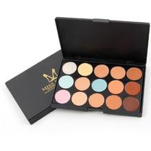 MISS ROSE High Quality 15 Color Professional Maquiagem Concealer Women Makeup Party Contour Face Cream Corretivo Base Palette