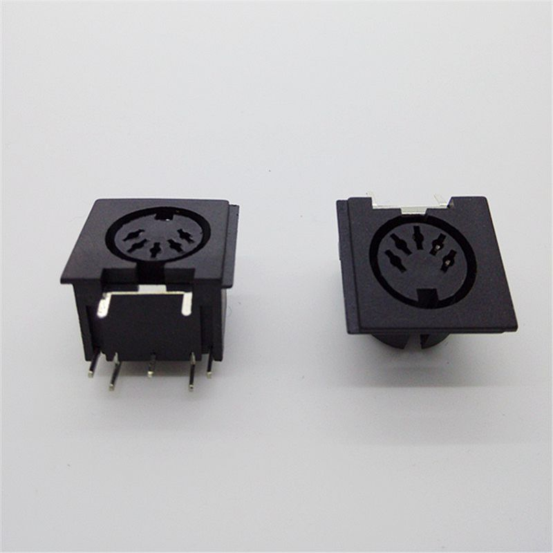 10Pcs PCB Panel Mount MIDI Female 5 Pin/8 Pin Jack 2pcs pcb panel mount midi female din5 din 5 pin jack d501