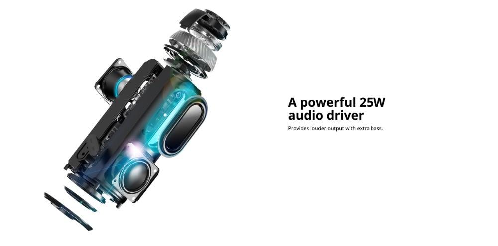 Tronsmart Element T6 Bluetooth Speaker 25W Portable Speaker with 360 Stereo Sound Soundbar Column 15H Play Time-Camouflage 1