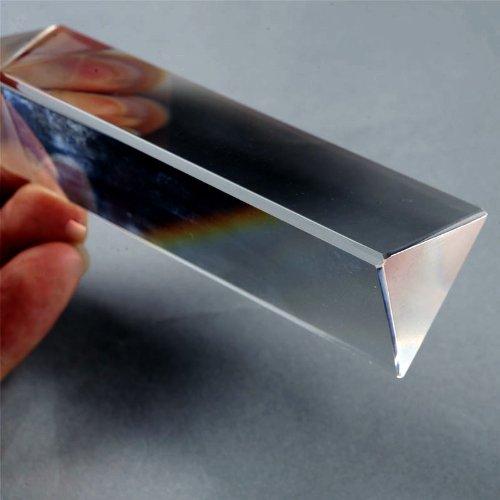 LHLL-Fisica Istruzione Prisma In Vetro Ottico di Precisione 4 pollici