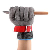 1pcs Safety Gloves SS304 Mesh Cut Proof Stab Resistant Stainless Steel Wire Metal Mesh Butcher Anti