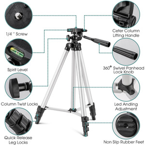 Image 3 - Bluetooth Stativ Aluminium Video Stabilisierung Für IPhone Mobile Dslr Kamera Einstellbar Profesional Smartphone Laser Ebene Stehen