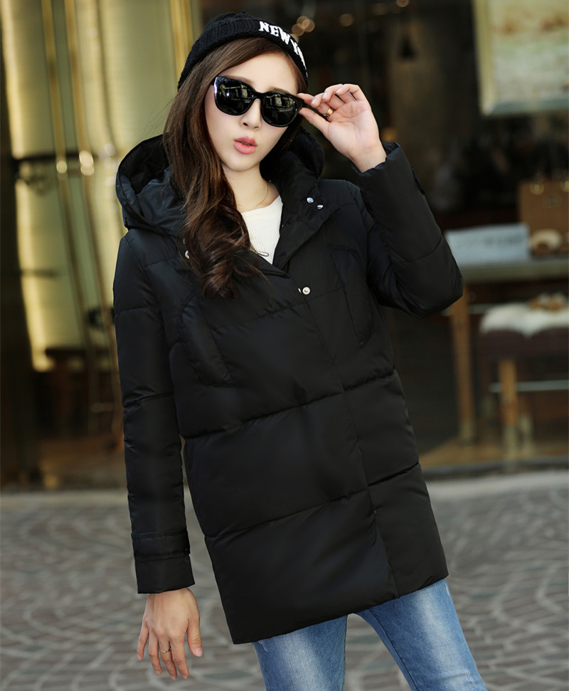 2016 new winter coat women in the long section of a woman s self cultivation hooded