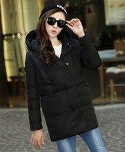 2016 новых зимнее пальто женщин в длинный отрезок женщины самосовершенствование куртка с капюшоном пуховик хлопок куртка утолщение