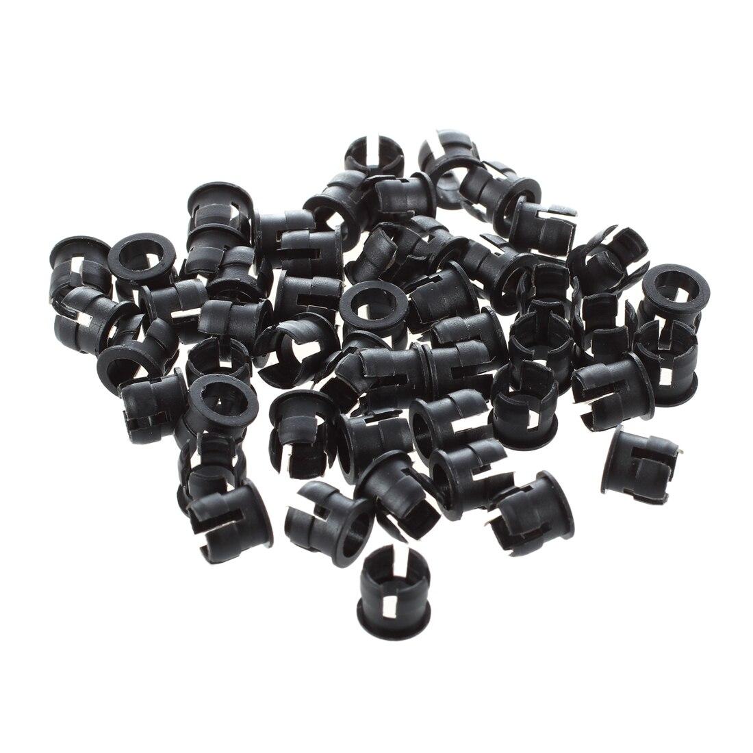 50 5mm Black Plastic LED Holder Case Clip Display Panel