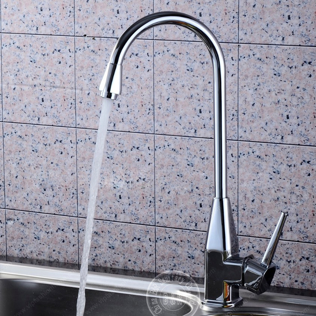 Kitchen Sink Faucet Waterfall Br Chrome Finish Mixer Taps Bathroom Faucets Basin Tap 9113