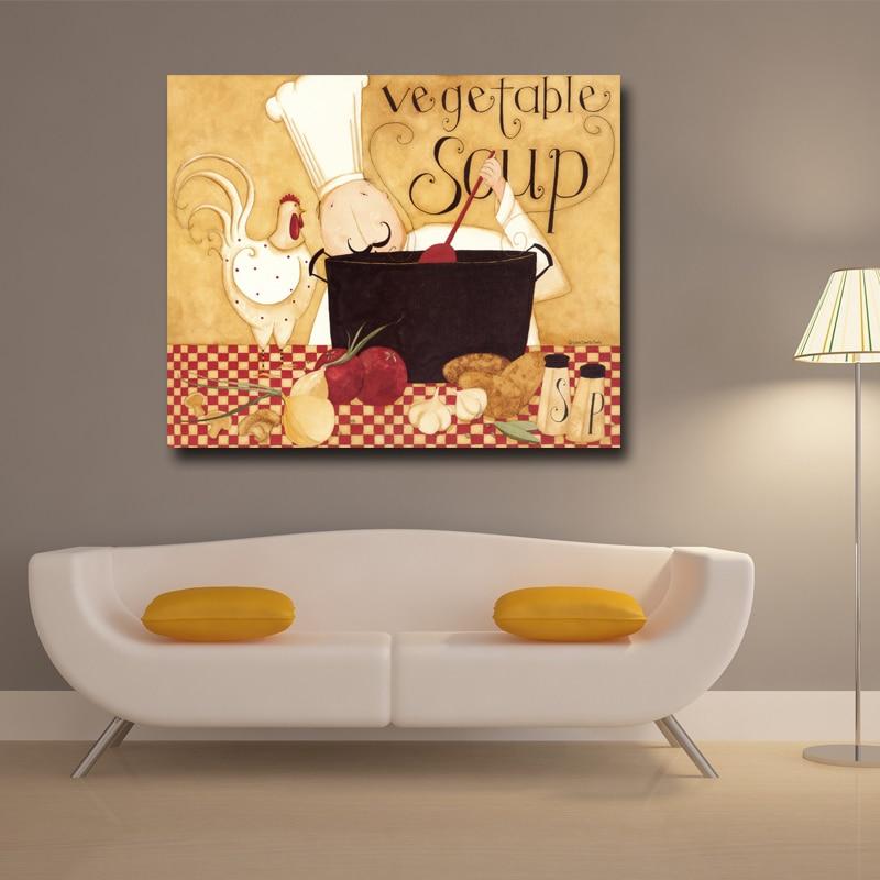 vente en gros chef toile d'excellente qualité de grossistes ... - Peinture Sur Toile Pour Cuisine